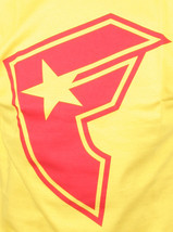 Famous Stars & Straps Mens Yellow Heavy Weight Red BOH T-Shirt Small NWT image 2