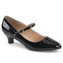 "PLEASER Sexy Black Patent Shinny Mary Jane Pumps 2"" High Heels Shoes FAB425/B - $48.95"