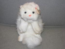 Ty Classic Cat White Persian Kitty Cat Angel 1997 China Pink Ribbon Bow ... - $27.26