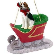Conversation Concepts American Fox Hound Sleigh Ride Ornament - $18.99