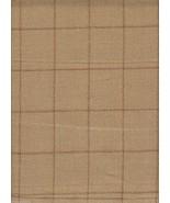 Holland & Sherry Upholstery Fabric Wool Tweed Window Pane Wheat 12.125 y... - $921.50