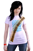 Cardboard Robot Women's Lilac or Gray Zebra Hunter Bullet Belt T-Shirt XS S NWT