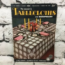 The Newest In Tablecloths And Bedspreads Clarks Pattern Book No. 235 VTG 1953 - $19.79