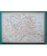 "ITALY Verona City Plan + Railroads - 1931 BAEDEKER MAP 7.5 x 11 ""  19 x ... - $16.20"
