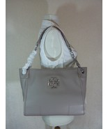 NWT Tory Burch French Gray Pebbled Leather Small Britten Slouchy Tote - ... - $443.52