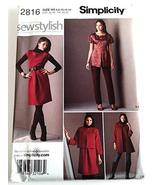 SIMPLICITY PATTERN 2816 MISSES'/MISS PETITE DRESS OR TOP, JACKET IN TWO ... - $10.88