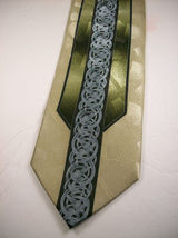 FRATELLO  Handmade Greens/Blue ABSTRACT Mens  100  Necktie 8-1227B image 3