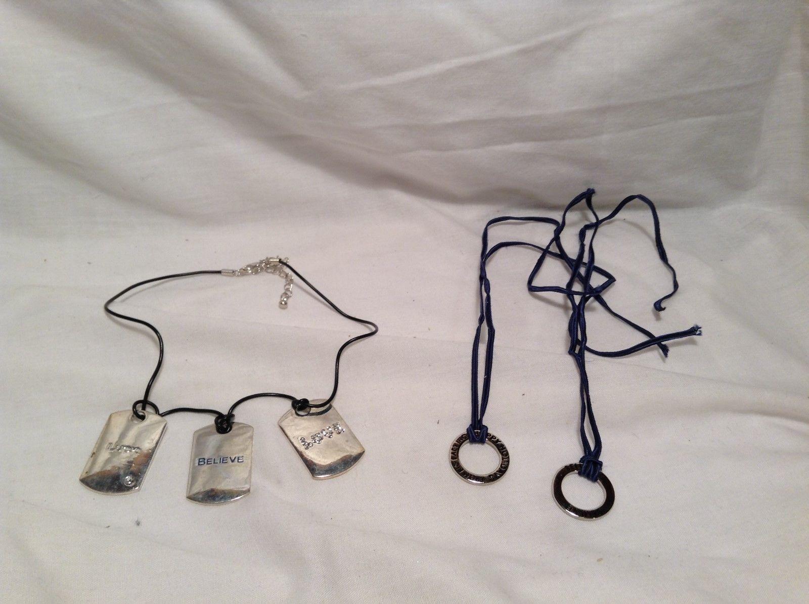 Silver Necklace w 3 Silver Pendants