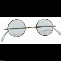 Cosplay Steampunk ROUND EYE GLASSES Wire Frame Granny Hippie Costume Acc... - £3.86 GBP