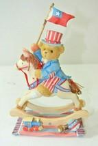 Cherished Teddies Enesco 109636 Samuel Hooray For The USA Rocking Horse - $22.49