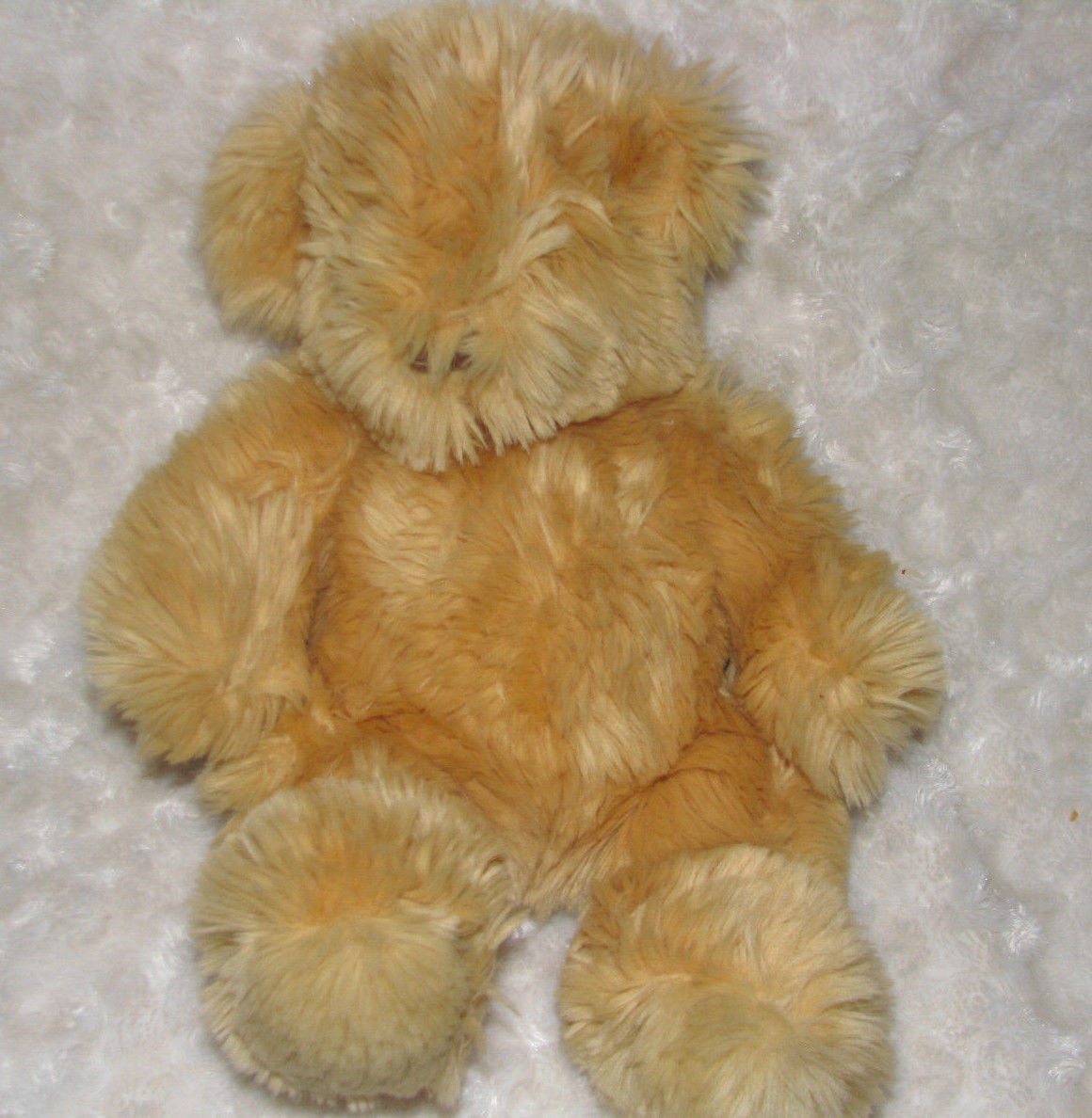 Primary image for MANHATTAN TOY STUFFED PLUSH TEDDY BEAR FLUFFY SHAGGY BEIGE TAN BROWN 1997