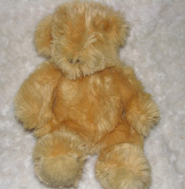 MANHATTAN TOY STUFFED PLUSH TEDDY BEAR FLUFFY SHAGGY BEIGE TAN BROWN 1997 - $31.67
