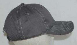 OC Sports BTP 100 Twill Cotton Cap Grey Visor Piping Accent White Adult image 4