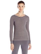 Calvin Klein Women's Liquid Lounge Pajama Top, Grey Heather, Size S - $18.80