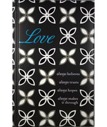 Love Journal Hardcover Book DaySpring 1 Corinthians 13:7 Love Always Bib... - $10.96