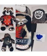 "Build A Bear Rocket Raccoon Guardians of Galaxy 16"" Plush Stuffed w/Outfit - $29.65"