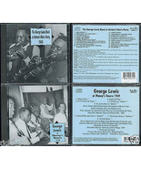 2 GEORGE LEWIS BAND music CDs ● At Manny's Tavern ● At Herbert Otto's Pa... - $12.30
