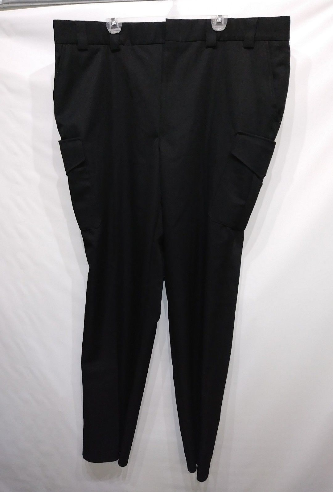 BLAUER SIDE POCKET POLYESTER TROUSERS BLACK SIZE 48 X 37 STYLE 8655 BRAND NEW