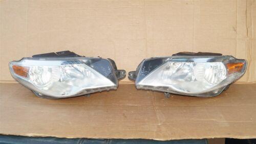 09-12 VW Volkswagen CC Halogen Headlight Head Lights Matching Set L&R