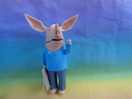 2010 Spin Master Olivia the Pig's Dad PVC Figure w/ Newspaper - As Is - stain - $3.22