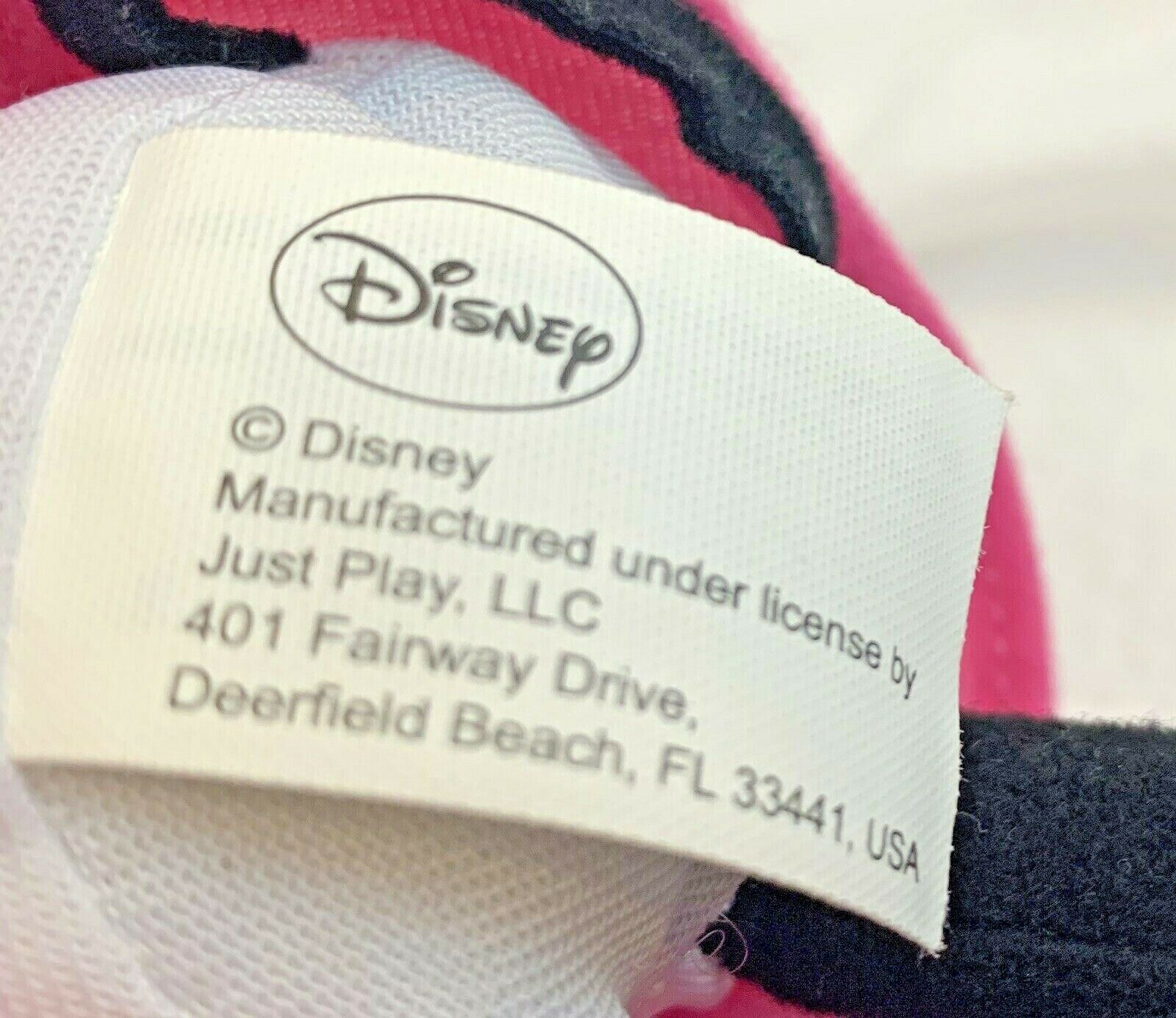 """Small Disney Minnie Mouse Holding Flower 10""""Plush Just Play"""