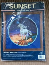 Sunset Unicorn Mystique (1998) Counted Cross Stitch Kit Sealed - $69.25