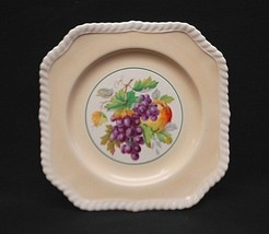 """California by Johnson Brothers 7-3/4"""" Square Salad Plate Beige Fruit England - $17.81"""
