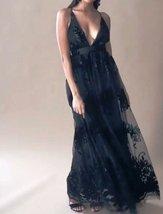 Al mesh black dress floral mesh maxi dress black spaghetti straps dress spaghetti strap thumb200