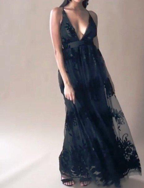 Maxi floral mesh black dress floral mesh maxi dress black spaghetti straps dress spaghetti strap
