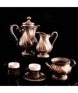 antique 800 silver demitasse teaset - Germany gebruder Kuhn hallmarks - ... - $1,200.00
