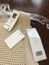 Vince Sweater Sleevless NWT 100% Cotton Off White Small Petite - $132.99