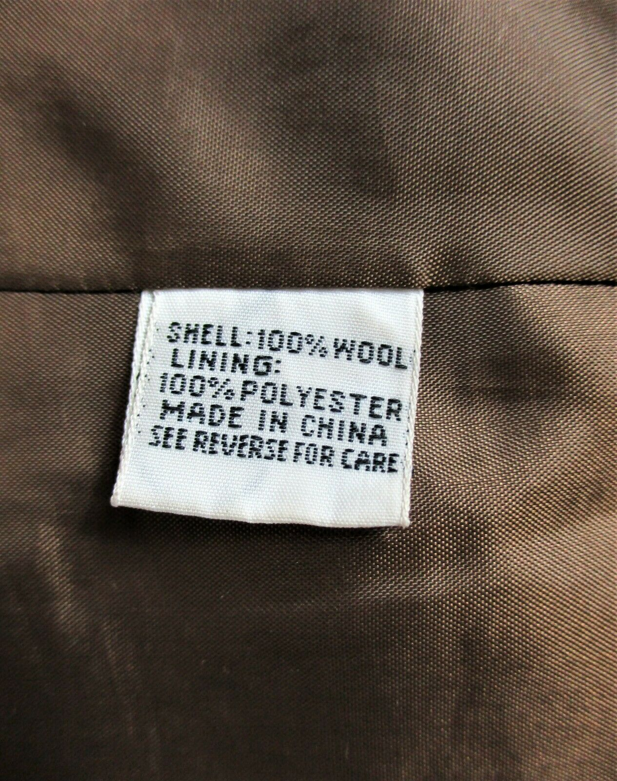TALBOTS womens Sz 12 L/S gold brown CHECKED button down 100% WOOL jacket (B4)