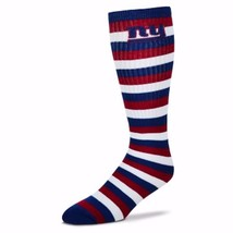 NFL New York NY Giants Striped Knee High Hi Tube Socks One Size Fits Most Adults - $7.95