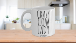 Crazy Cow Lady Mug Cute Funny Gift Idea For Pet Cow Mom Lover Rescue Hom... - $14.65+