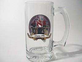 1996 Atlanta Olympics Glass Stein The Centennial Olympic Games 12 Ounces... - $21.77