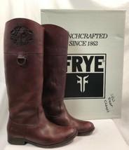 Frye Melissa Logo Burgundy Color Boots, Womens Size 9M - $94.99