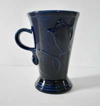"""Fiesta Ware Cobalt Blue Tall Cappuccino Latte Pedestal Mug 6"""" Retired - $19.95"""
