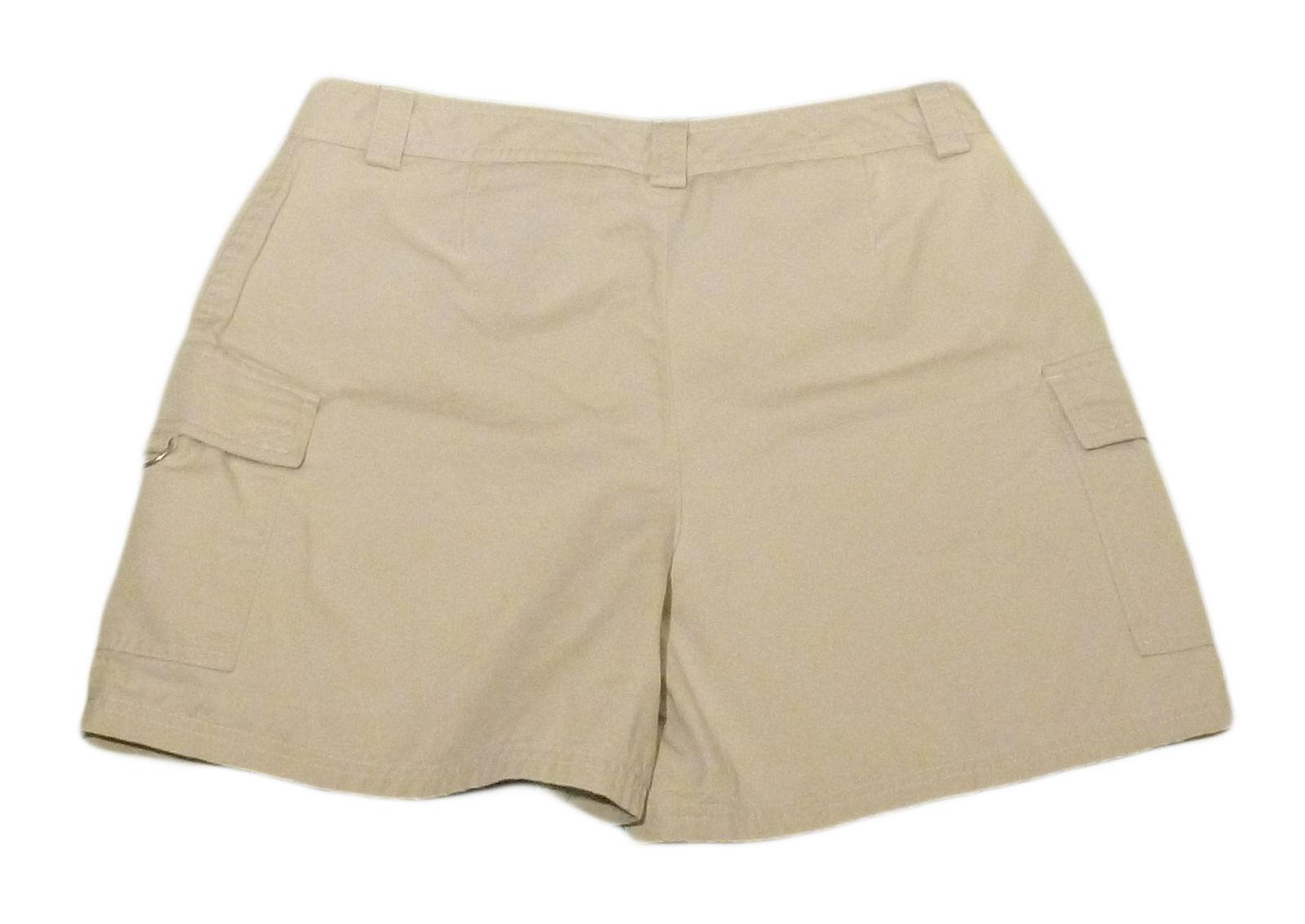 Womens Tan DOCKERS Casual Shorts 10 100% Cotton