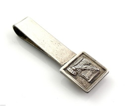 Vintage 1960s Sterling Silver Writers Book Quill & Inkwell Design TIE BA... - $57.74
