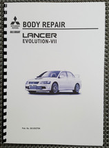 Mitsubishi Lancer Evo Vii Body Repair Manual Reprinted Comb Bound - $28.34