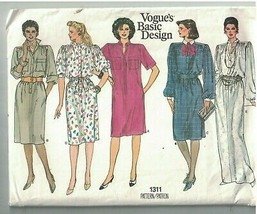 1311 UNCUT Vogue Sewing Pattern Misses Very Loose Fitting Dress Evening Casual  - $9.99