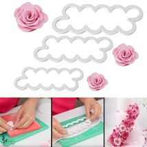 Cake Decorating Gumpaste Flowers & The Easiest Rose Ever Cutter Pack of 3