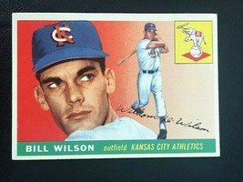 1955 Topps Baseball Card #86 BILL WILSON - KANSAS CITY A'S - $4.90
