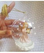 Gorham Winter Follies Harp Angel Blown Glass Ball Christmas Ornament Dec... - $18.81