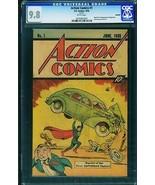 Action #1 1976 CGC Graded 9.8 1st Superman-rare SLEEPING BAG Reprint 024... - $1,176.13
