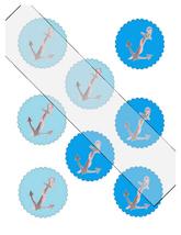 Scallop Circles Anchor34 -Download-ClipArt-ArtClip-Digital Tags-Digital - $3.99