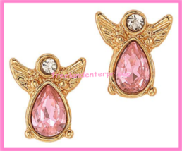 Breast Cancer Pink Hope Stud Earring Pack fo Four Goldtone Earrings 2018 image 5