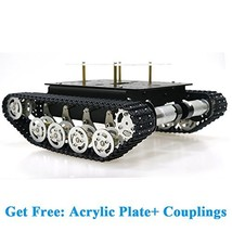 SZDoit Shock Absorption Robot Tank Car Chassis Kit for Arduino Raspberry... - $150.42
