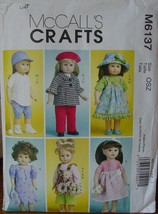 """Sewing Pattern 6137 Several Outfits for 18"""" Dolls, American Girl etc (CUT) - $4.99"""