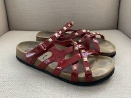 Birkenstock Betula Red Patent Slides Sandals EUR 40 N US 9.5-10 - $27.73